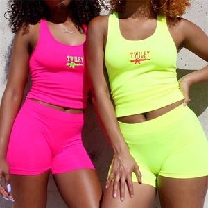 Pants - Neon pink two piece